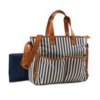 Baby Boom Places and Spaces Navy Stripes Diaper Bag