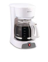 Sunbeam 12 Cup White Switch Coffee Maker