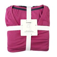 George Women's Henley Sleep Set Pink M
