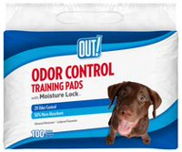 OUT! Odor Control Training Pads 100 pads