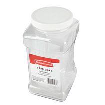 Rubbermaid Square Food Storage Jar, 3.8 Litre, White
