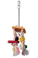 Living World Junglewood Rope Chime with Bell, Bird Toy