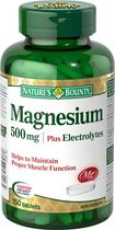 Nature's Bounty Magnesium 500 mg Plus Electrolytes Tablets