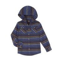 George Boys' Hooded Flannel Shirt Blue S