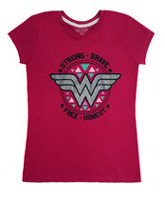 Wonder Woman Girl's Short Sleeve T-Shirt XL