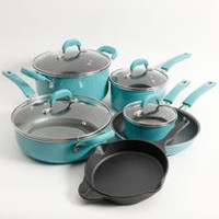 The Pioneer Woman Vintage Speckle 10-Piece Cookware Set