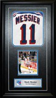 Frameworth Sports Cadre photo reproduction numéroté New York Rangers Mark Messier