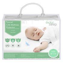 Evolur Full-Size Crib Tencel Waterproof Mattress Protector and Fitted Sheet