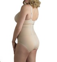 Cupid® Intimates Women's Knit Shapewear Back Magic™ Plus Size Brief Beige 4XL