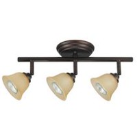 Globe Electric 58922 3 Light Track Bar, Crimson Coffee Finish