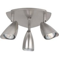 Globe Electric 58929 3 Light Canopy Track, Brushed Steel Finish