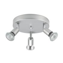 Globe Electric 58931 3 Light Canopy, Silver Finish