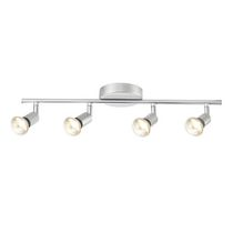 Globe Electric 58932 4 Light Track Bar, Silver Finish