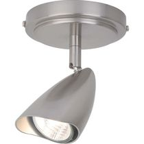 Globe Electric 58934 1 Light Spot, Brushed Steel Finish