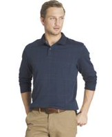 Arrow Men's Glenplaid Jacquard Knit Polo Sweatshirt Medium