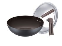 Supor 30 cm Non-Stick Wok with Standing Lid