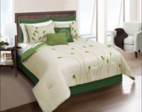 Safdie & Co. Home Deluxe Collection Green 100% Polyester Comforter Set