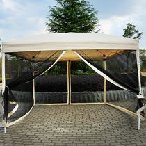 Outsunny 10x10 Ft Pop up Party Tent with 4 Removable Mesh Sidewalls