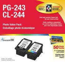 Canon Paquet de papier photo PG-243XL et CL-244 de 50 feuilles