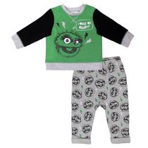 Sesame Street Baby Boys' Long Sleeve Top and Pant 2-Piece Set 18-24 months