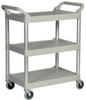 "Rubbermaid Platinum Utility Cart with 4"" Swivel Casters"