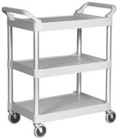 "Rubbermaid White Utility Cart with 4"" Swivel Casters"