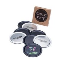 Masontops Chalk Tops 8-Pack Reuasable Chalkboard Lids for Wide Mouth Mason Jars