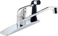 Peerless® Chrome Single Handle Kitchen Faucet with Spray