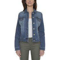 Jordache Women's JC19850M Long Sleeve Denim Jacket L