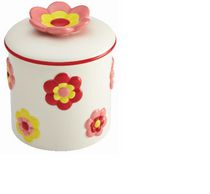Cake Boss Flower Pattern Cookie Jar