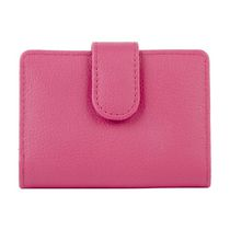 Anna Martina Franco Women's Tab Multi Credit Card Case Pink Wallet