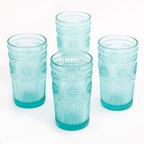 The Pioneer Woman 16-Ounce Emboss Glass Tumblers