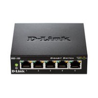 D-Link 5-Port Unmanaged Gigabit Switch - DGS-105