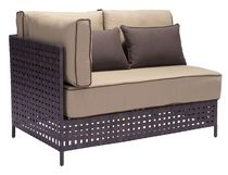Zuo Modern Outdoor 1-Piece Synthetic Weave Brown & Beige Pinery Left Hand Side Sofa