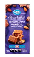 Great Value Almond & Raisin Milk Chocolate