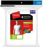 Hanes Men's Tagless 4-Pack V-Neck T-Shirt 2XL