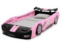 Turbo Race Car Twin Bed- Pink