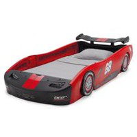 Turbo Race Car Twin Bed- Red