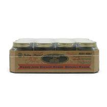 Golden Harvest Bocaux en verre de 250 ml à couvercles et bandes, bouche régulière