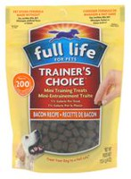 Mini gâteries de dressage au recette de bacon Trainer's Choice de Full Life for Pets