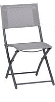Sunmate Casual Bistro Chair Contemporary Textilene Fabric and Powder Coated Steel Style