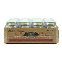 Golden Harvest Bocaux en verre de 500 ml à couvercles et bandes, 12 unités