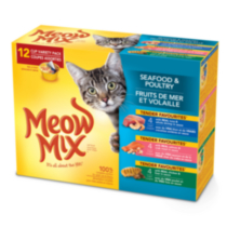 Meow Mix Sea Food and Poultry Variety Pack wet Cat Food