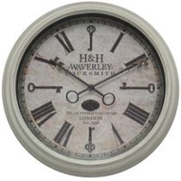 Hometrends White Keys Wall Clock