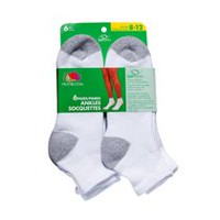 Fruit of the Loom Ladies Plus Size Ankle Socks - 6 Pairs