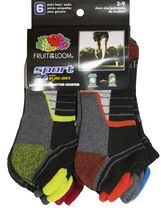 Socquettes à coupe basse sport de Fruit of the Loom pour garçons - 6 paires 3-9