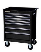 "International 27"" 7 drawer Cabinet, Tech Series, Black"