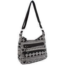 Moxy Women's  Dhurrie Hobo Black/White