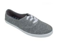 George Women's Lemon Lace-up Canvas Shoes Grey 8