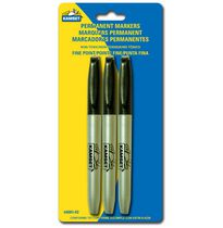 Kamset Permanent Markers - 3 Black